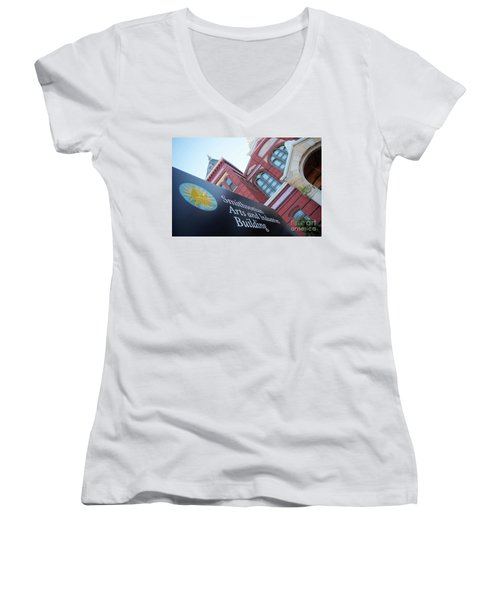 Arts And Industry Museum  Women's V-Neck T-Shirt (Junior Cut) by John S