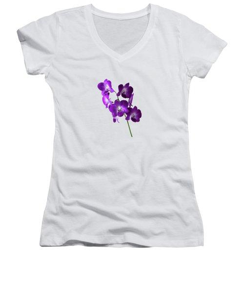 Floral Women's V-Neck (Athletic Fit)