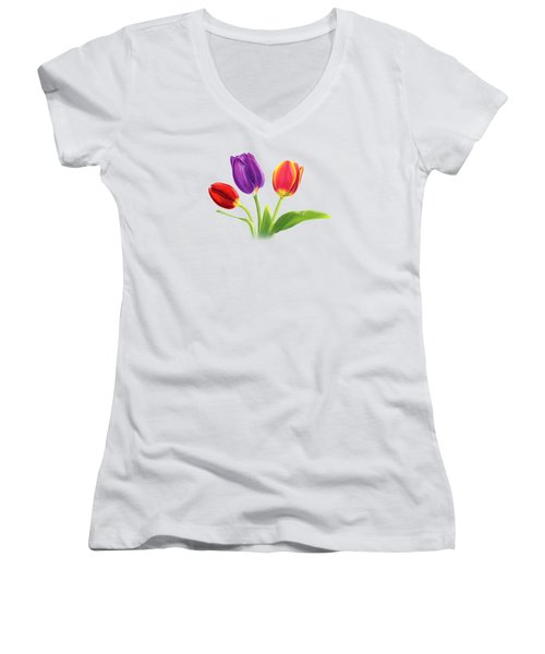Tulip Trio Women's V-Neck (Athletic Fit)