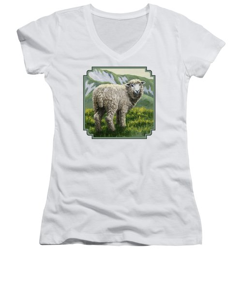 Highland Ewe Women's V-Neck (Athletic Fit)