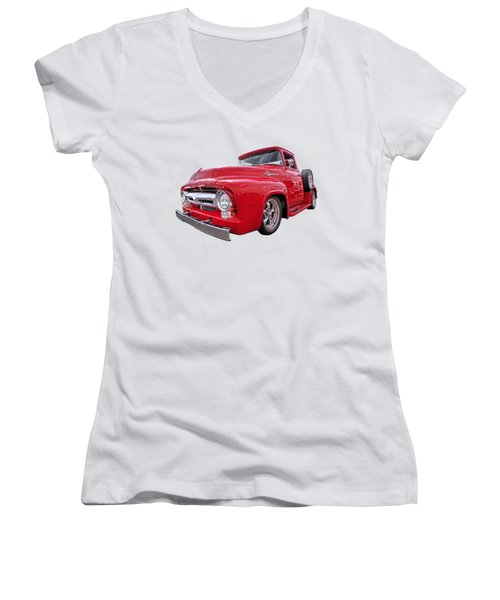 Red F-100 Women's V-Neck