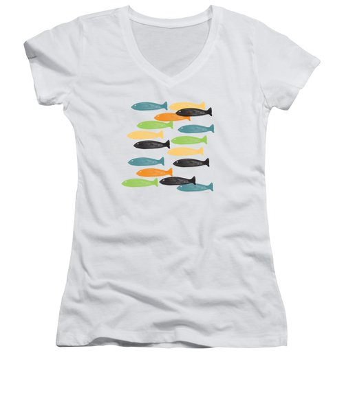 Colorful Fish  Women's V-Neck T-Shirt