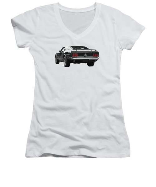Rear Of The Year - '69 Mustang Women's V-Neck
