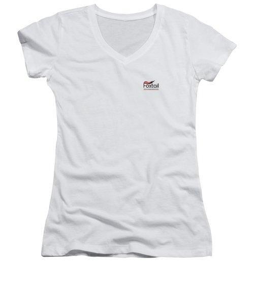 Foxtail Logo Women's V-Neck T-Shirt (Junior Cut) by Arthur Fix