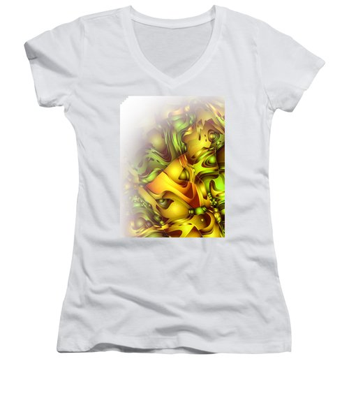 The Sweet Fantasy Women's V-Neck T-Shirt (Junior Cut) by Moustafa Al Hatter