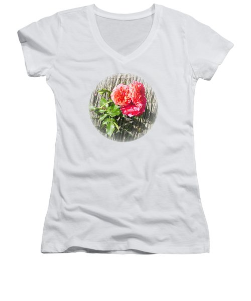 Women's V-Neck featuring the photograph Floral Escape by Ivana Westin