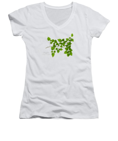 Women's V-Neck T-Shirt (Junior Cut) featuring the photograph Hawthorn by Christina Rollo