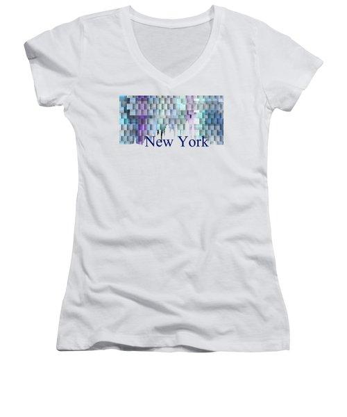 New York Blue Shadows, Women's V-Neck
