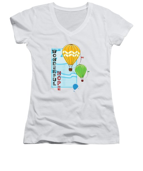 A Wonderful Hope Women's V-Neck (Athletic Fit)