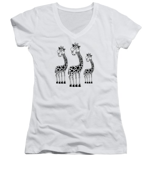 Fudge The Giraffe Women's V-Neck