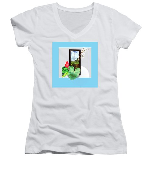 Anthurium Women's V-Neck T-Shirt