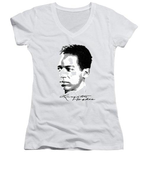 Langston Hughes Women's V-Neck T-Shirt