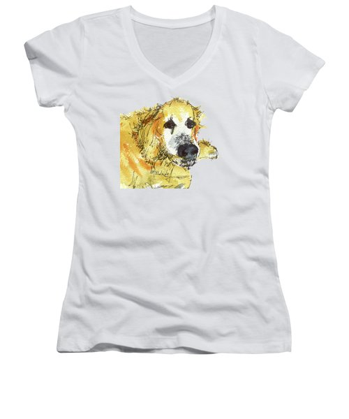 Cinders Chief Dog Women's V-Neck
