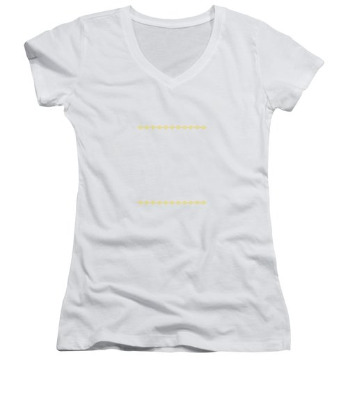 Treasure Knot In Yellow 2 Women's V-Neck (Athletic Fit)