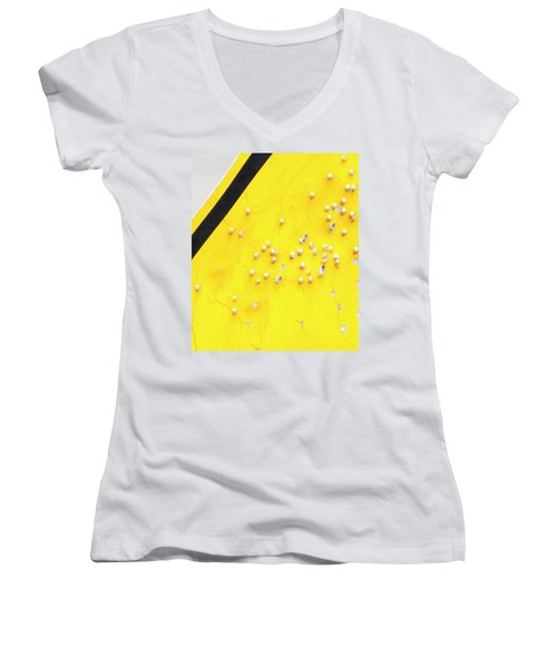 That's Not Braille Women's V-Neck T-Shirt (Junior Cut) by Bill Kesler