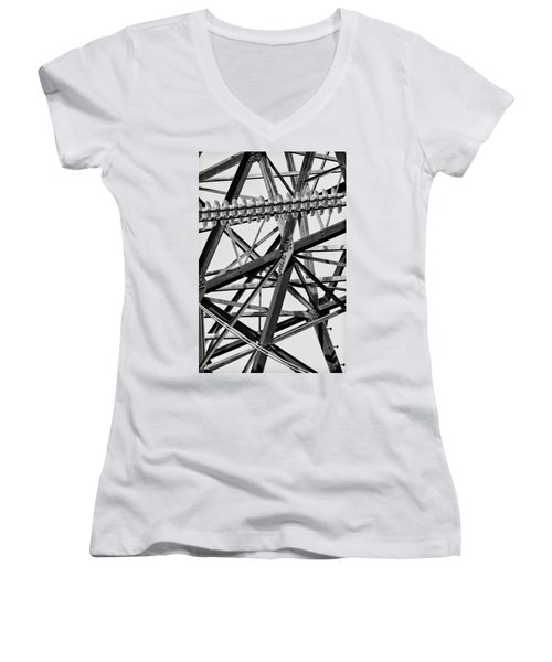 What's Your Angle Women's V-Neck T-Shirt (Junior Cut) by Bill Kesler