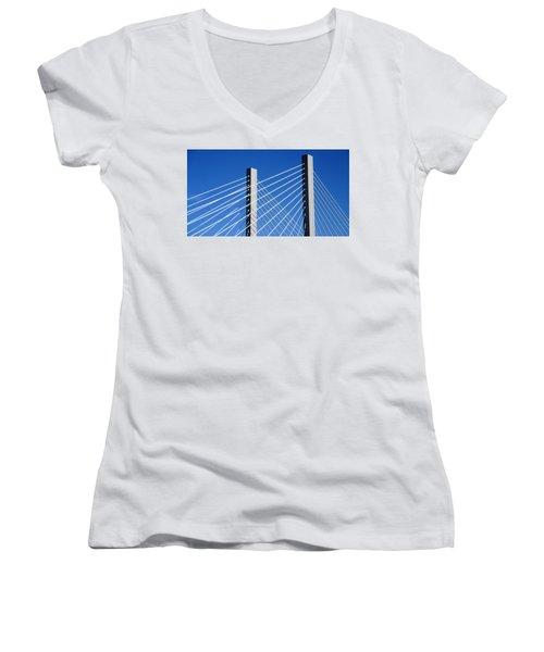 Aspire 2 Women's V-Neck T-Shirt (Junior Cut) by Martin Cline