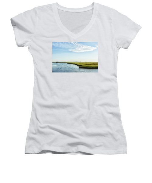 Assateague Island Women's V-Neck (Athletic Fit)