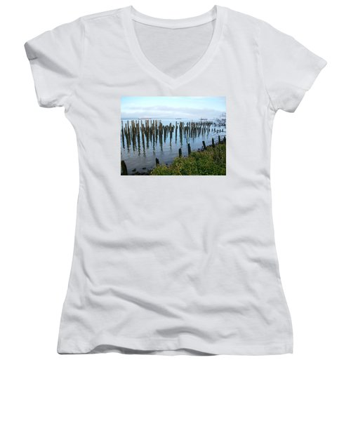 Astoria Ships  Women's V-Neck T-Shirt