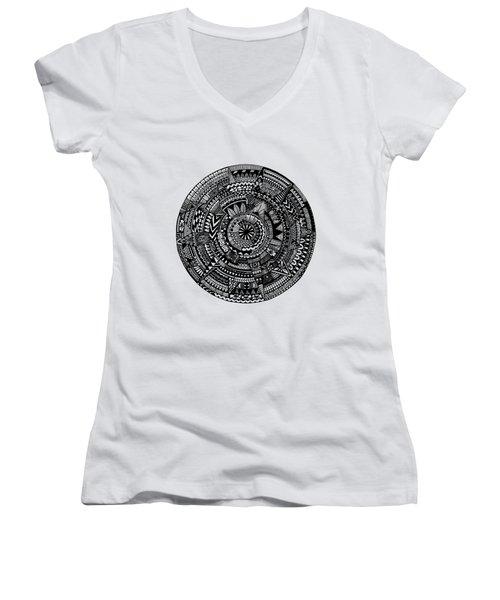 Asymmetry Women's V-Neck T-Shirt (Junior Cut) by Elizabeth Davis