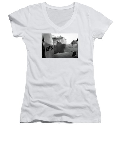 At-11 In Black And White - 2017 Christopher Buff, Www.aviationbuff.com Women's V-Neck