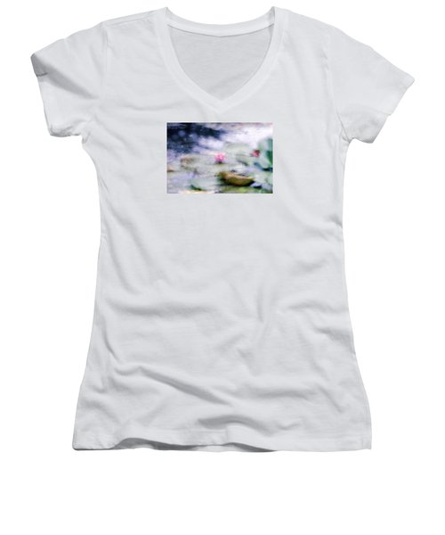 At Claude Monet's Water Garden 12 Women's V-Neck (Athletic Fit)