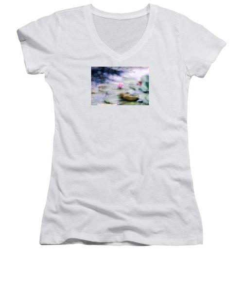 At Claude Monet's Water Garden 12 Women's V-Neck T-Shirt