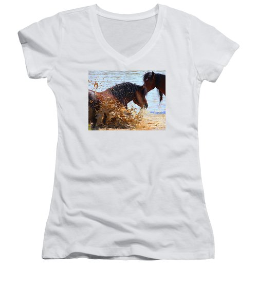 At The Watering Hole Women's V-Neck T-Shirt