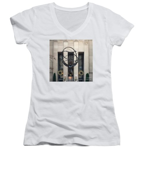 Atlas Statue Women's V-Neck