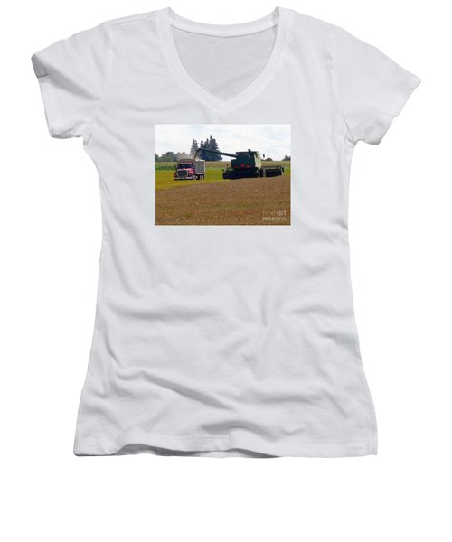August Harvest Women's V-Neck T-Shirt (Junior Cut)