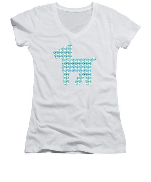 Aussie Dog Pattern Women's V-Neck