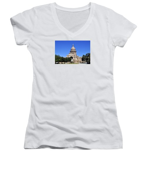 Austin State Capitol Women's V-Neck T-Shirt