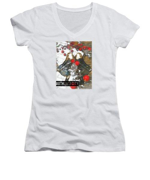 Authenticity Women's V-Neck T-Shirt