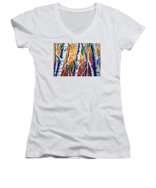 Autumn Birch Women's V-Neck