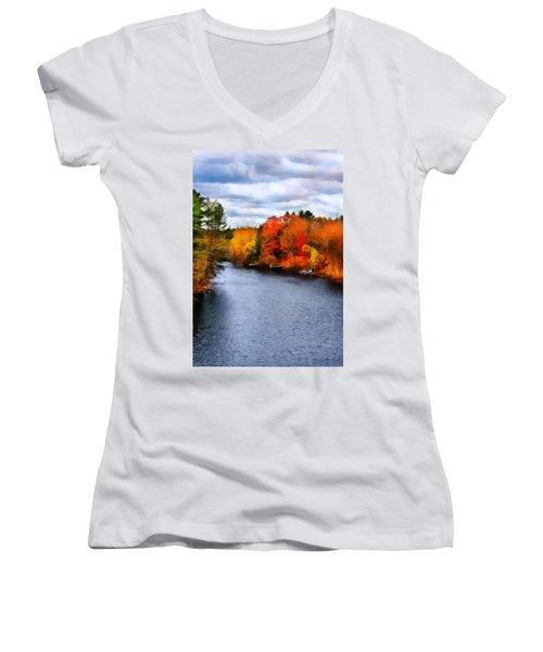 Autumn Channel Women's V-Neck T-Shirt