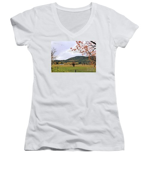 Autumn Country View Women's V-Neck