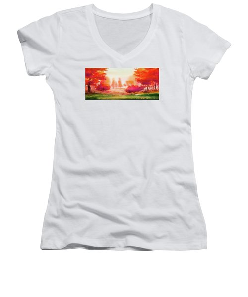 Autumn Delight Women's V-Neck T-Shirt