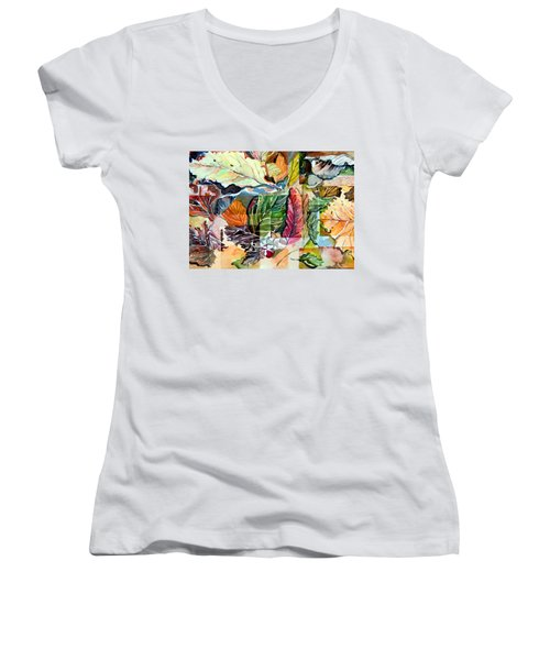 Autumn Falls Women's V-Neck T-Shirt