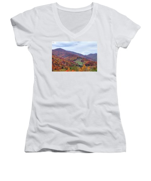 Autumn Farm Women's V-Neck