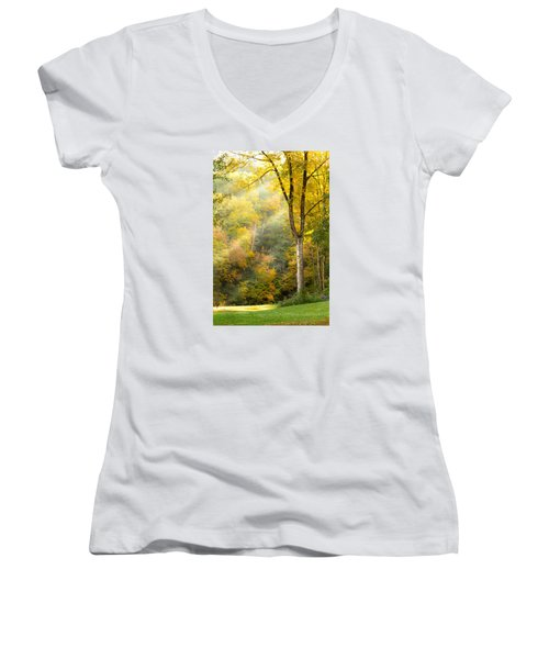 Autumn Morning Rays Women's V-Neck (Athletic Fit)