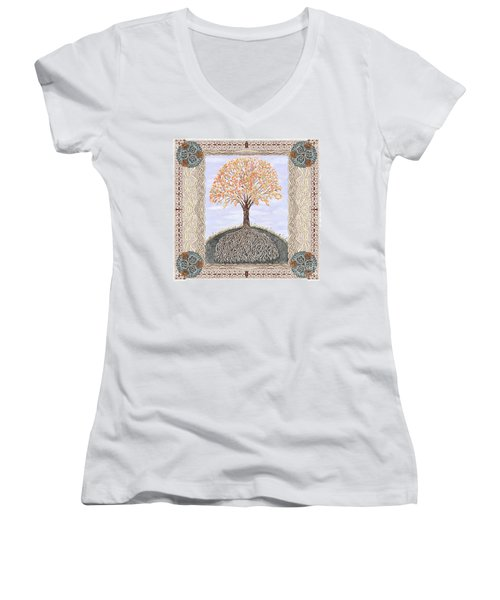 Autumn Tree Of Life Women's V-Neck (Athletic Fit)