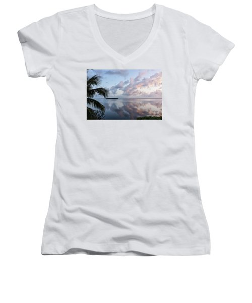 Awakening At Sunrise Women's V-Neck (Athletic Fit)