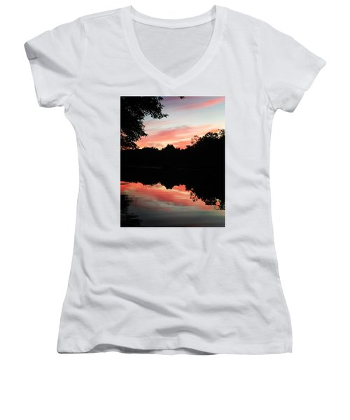 Awesome Sunset Women's V-Neck