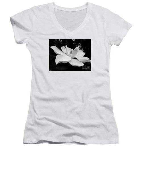 B W Magnolia Blossom Women's V-Neck T-Shirt