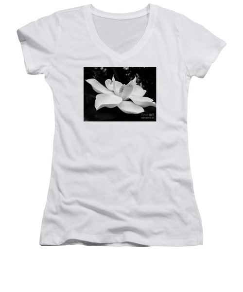 B W Magnolia Blossom Women's V-Neck (Athletic Fit)