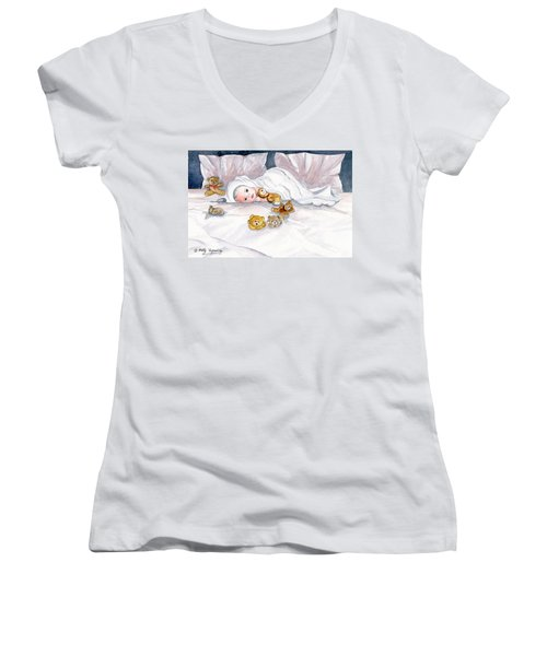 Baby And Friends Women's V-Neck T-Shirt