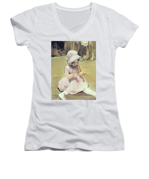 Baby Girl Discovering Women's V-Neck (Athletic Fit)