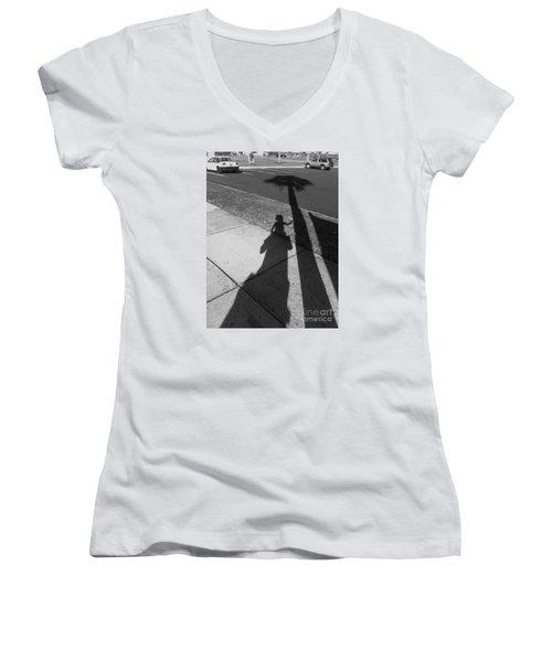 Baby Palm Women's V-Neck T-Shirt (Junior Cut) by WaLdEmAr BoRrErO