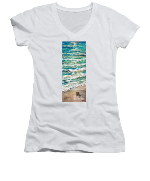Baby Sea Turtle II Women's V-Neck (Athletic Fit)