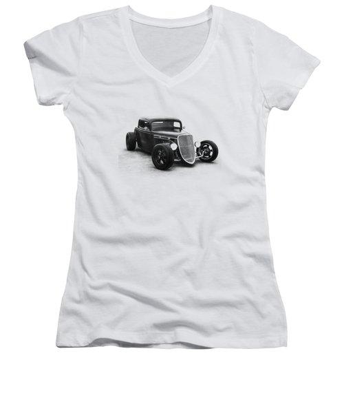 Bad Boy Women's V-Neck T-Shirt (Junior Cut) by Douglas Pittman